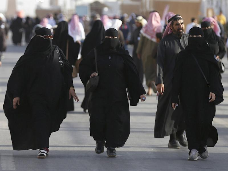 Saudi women arrive to attend Janadriyah Culture Festival on the outskirts of Riyadh in 2016: REUTERS