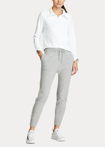 Ralph Lauren Cashmere Golf Jogger in light grey heather