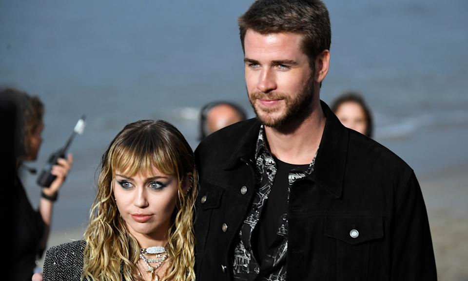 "After less than a year of marriage, Miley Cyrus and actor Liam Hemsworth <a href=""https://uk.news.yahoo.com/miley-cyrus-and-liam-hemsworth-split-after-eight-months-of-marriage-095133217.html"" data-ylk=""slk:called quits on their relationship;outcm:mb_qualified_link;_E:mb_qualified_link;ct:story;"" class=""link rapid-noclick-resp yahoo-link"">called quits on their relationship</a>. Their <a href=""https://uk.movies.yahoo.com/miley-cyrus-liam-hemsworth-appear-just-got-married-155425657.html"" data-ylk=""slk:secret wedding last December;outcm:mb_qualified_link;_E:mb_qualified_link;ct:story;"" class=""link rapid-noclick-resp yahoo-link"">secret wedding last December </a>came after ten years of the pair dating on-and-off. Cyrus went on to date Kaitlynn Carter and is currently seeing Cody Simpson. (Frazer Harrison/Getty Images)"