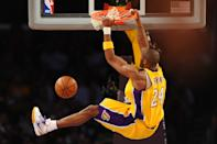 Kobe Bryant's Lakers were on their way to a 65-win campaign here in a February 2009 win over Kevin Durant, Russell Westbrook and the up-and-coming Oklahoma City Thunder. (Noah Graham/NBAE via Getty Images)