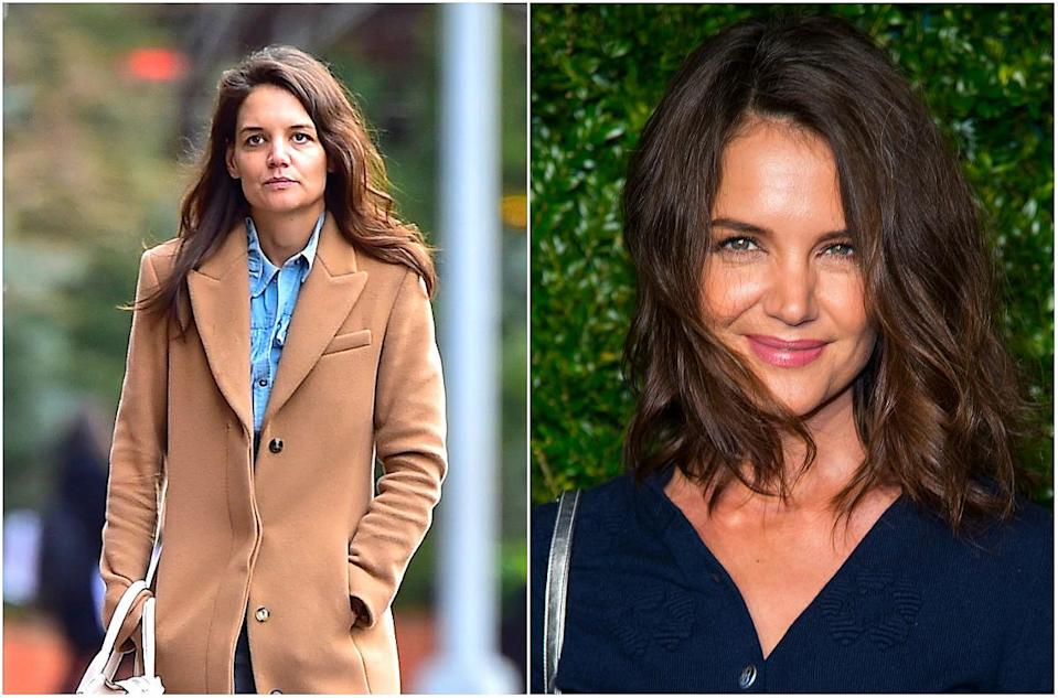 <p><b>When: April 24,<br>2017</b><br>Katie Holmes was spotted with a sexy, youthful cut at the Chanel Artists Dinner during the 2017 Tribeca Film Festival on Monday! The light-brown collarbone-length lob was chopped and layered, courtesy of stylist DJ Quintero. Paired with minimal makeup, the 38-year-old looked absolutely stunning, don't you agree? <i> (Photos: Getty) </i> </p>