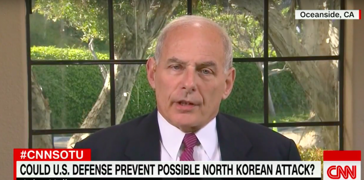 Department of Homeland Security Secretary John Kelly warned that North Korea could launch a nuclear strike against the U.S. (YouTube)