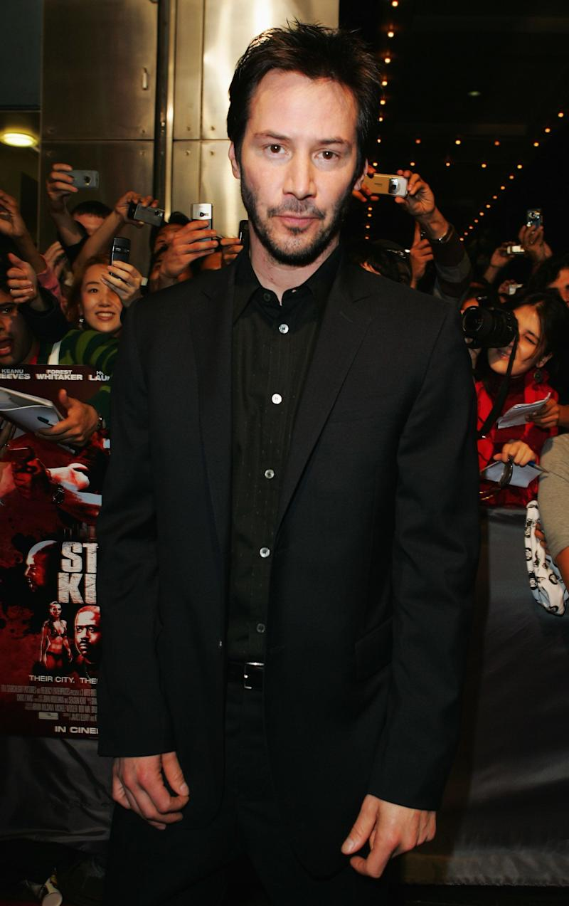 Keanu Reeves attends the Australian premiere of 'Street Kings' at the George Street Greater Union cinemas on April 15, 2008 in Sydney, Australia.