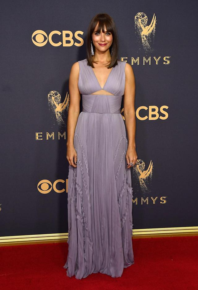 <p>Rashida Jones attends the 69th Annual Primetime Emmy Awards on September 17, 2017.<br> (Photo: Getty Images) </p>