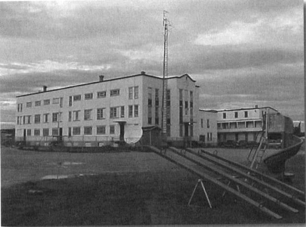 St. Anne's Residential School in Fort Albany, Ont. in the 1940s. (Algoma University/Edmund Metatawabin Collection - image credit)