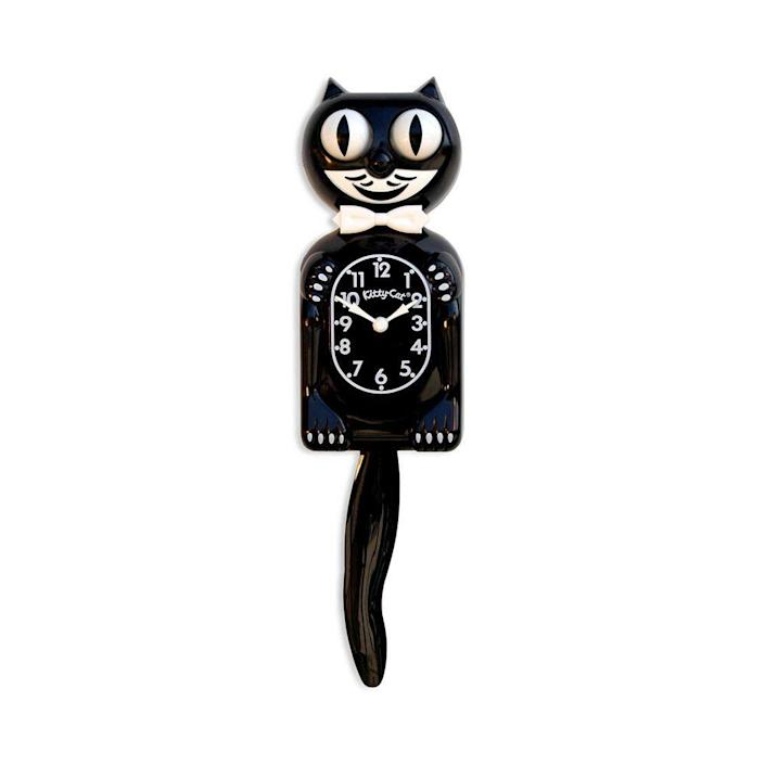 """<p>moma.org</p><p><strong>$40.00</strong></p><p><a href=""""https://store.moma.org/for-the-home/home/clocks/kit-cat-clock/107119.html"""" rel=""""nofollow noopener"""" target=""""_blank"""" data-ylk=""""slk:Shop Now"""" class=""""link rapid-noclick-resp"""">Shop Now</a></p><p>This gift is especially sweet for someone who grew up with this retro clock in their parents' home. </p>"""