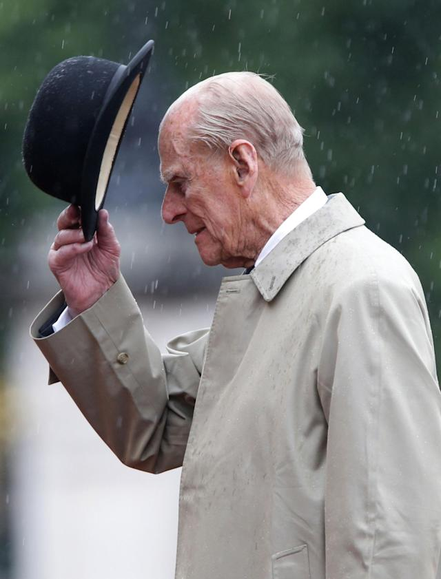 Prince Philip during his final solo public engagement on August 2, 2017. (Getty Images)