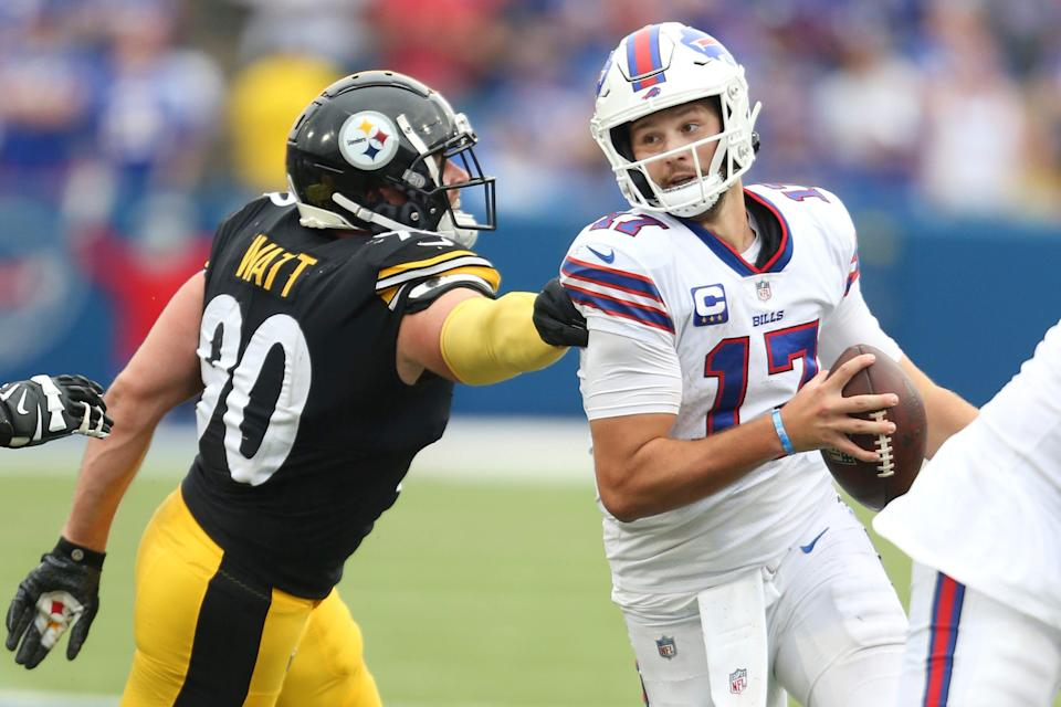 When it comes to the NFL's highest-paid players in 2021, Bills quarterback Josh Allen ranks first -- and Steelers linebacker T.J. Watt ranks 11th.