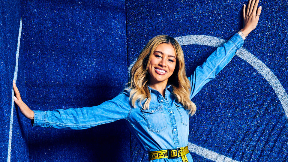 Montana Brown poses to camera at the Sport Relief studio on 13 March 2020.
