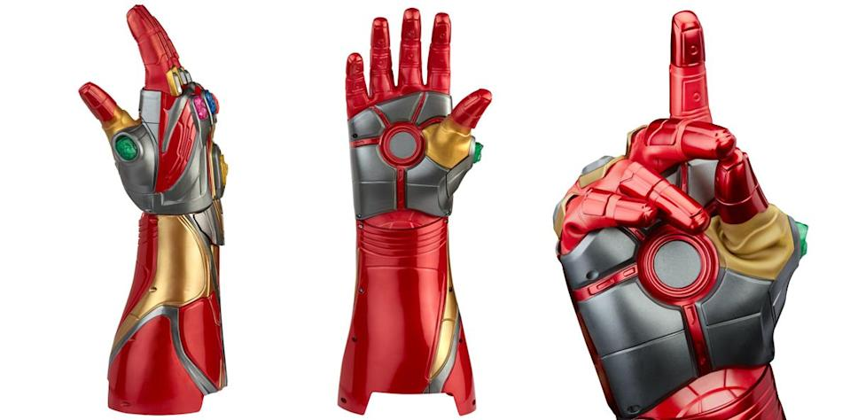 The Marvel Legends Iron Man Nano Gauntlet is very accurate to Tony Stark's movie weapon.