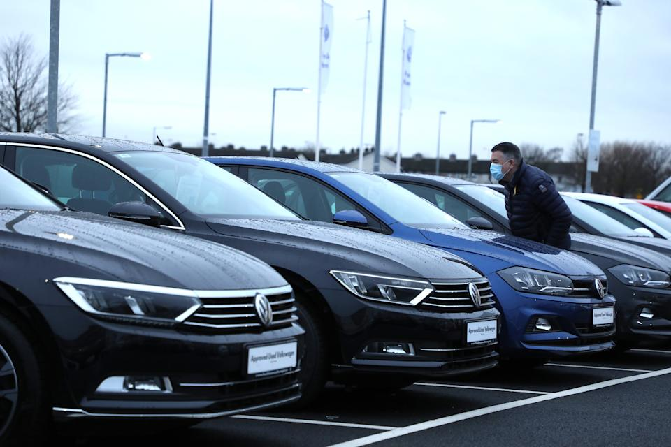 Car stock at a dealership. Photo: Xinhua via Getty Images