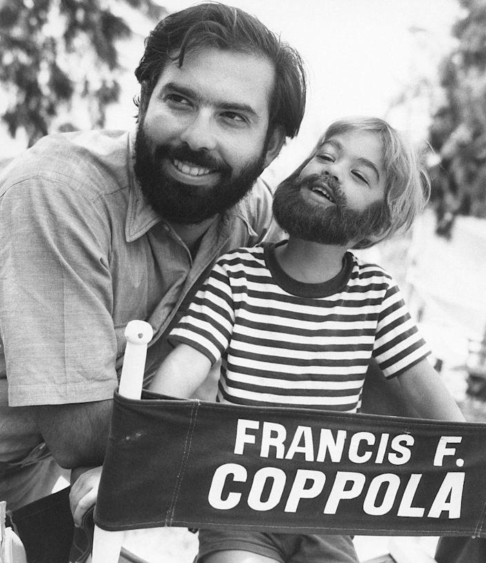 <p>Francis Ford Coppola's son dons a nearly identical beard to his father, while visiting the set of his movie <em>Hedgehog in the Fog</em>. They call it movie magic, people!</p>