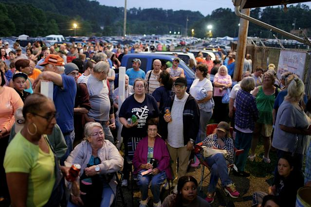<p>People wait to receive medical and dental care at the Remote Area Medical Clinic in Wise, Va., July 21, 2017. (Photo: Joshua Roberts/Reuters) </p>