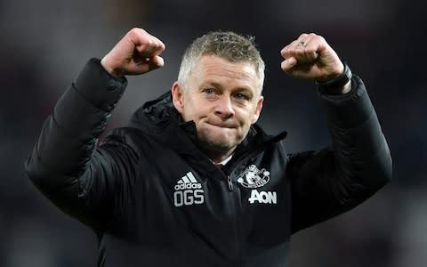 <span>Ole Gunnar Solskjaer enjoyed a rare moment of joy this week when he saw his United side beat Tottenham at Old Trafford </span> <span>Credit: Getty Images </span>