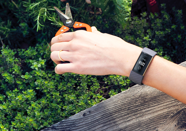 The FitBit Charge 3 Activity Tracker keeps track of all of your activity—not just workouts. (Photo: QVC)