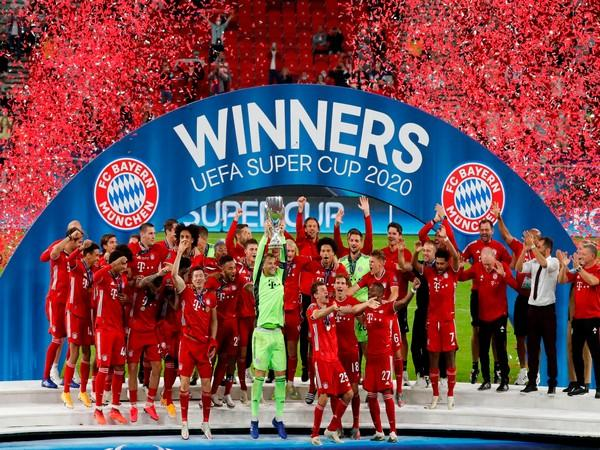 Bayern Munich players celebrating after UEFA Super Cup victory. (Photo/ Bayern Munich Twitter)