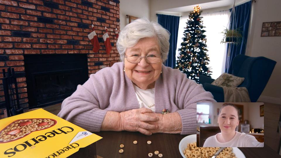 Peggy Miley and Delfina Booth reprised their roles from the 1999 Cheerios commercial. (Photo: Cheerios)