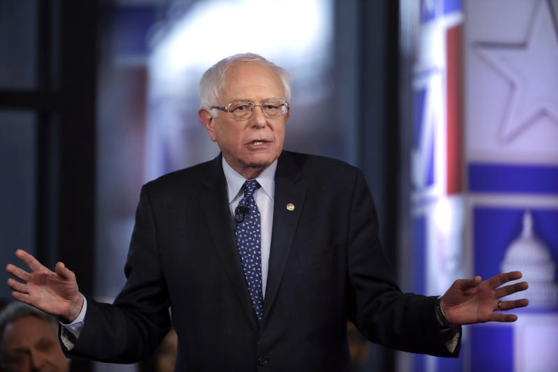 FILE - In this April 15, 2109, file photo, Democratic presidential candidate Sen. Bernie Sanders, I-Vt., speaks during a Fox News town-hall style event Monday April 15, 2019 in Bethlehem, Pa. A Democratic front-runner no more, Sanders is fighting off questions about electability and African-American outreach with a simple message: I am who I am.(AP Photo/Matt Rourke, File)