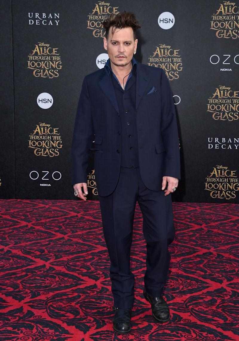 Johnny Depp has landed in the Worst Supporting Actor category for his work in Alice Through the Looking Glass. Source: Getty