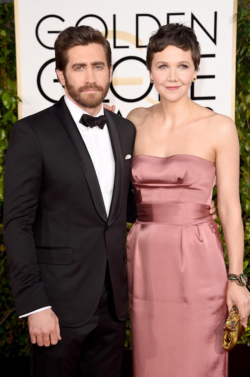 Jake with his sister Maggie at the 72nd Annual Golden Globe Awards in January 11, 2015 [Photo: Getty Images]