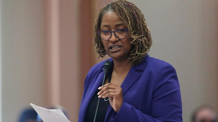 """State Sen. Holly Mitchell (D-Los Angeles) is the best choice for the Los Angeles County Board of Supervisors' 2nd district. <span class=""""copyright"""">(Rich Pedroncelli / Associated Press)</span>"""
