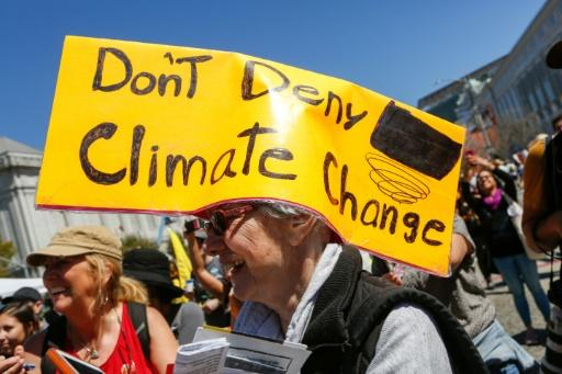 Demonstration für Klimaschutz in San Francisco