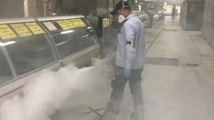 The markets have also stepped up their cleaning and disinfecting routine
