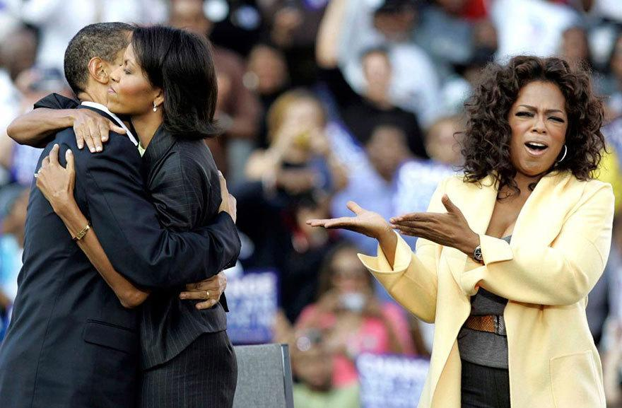 <p>When even Oprah couldn't handle how cute these two were. [Mary Ann Chastain/AP]</p>
