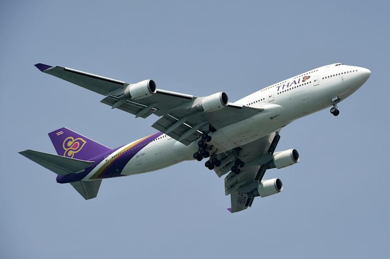 Thai Airways has banned passengers with a 142cm waistline from business class: AFP/Getty Images