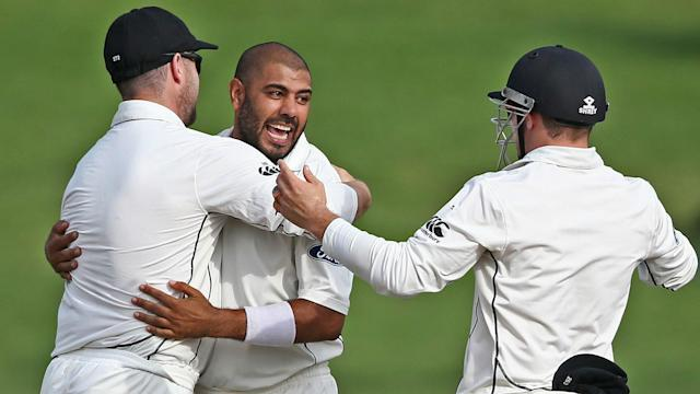 Jeetan Patel led the charge as New Zealand's bowlers wore the South Africans down, with the Proteas 80-5 and still 95 runs adrift on Tuesday