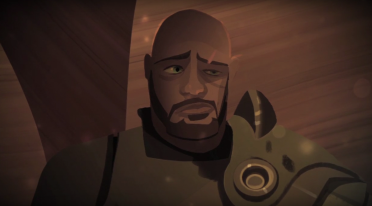 Concept art of Saw Gerrera for 'Star Wars Rebels' (Lucasfilm)