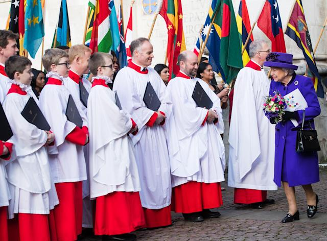 Queen Elizabeth at the Commonwealth Day service in 2019. (Getty Images)