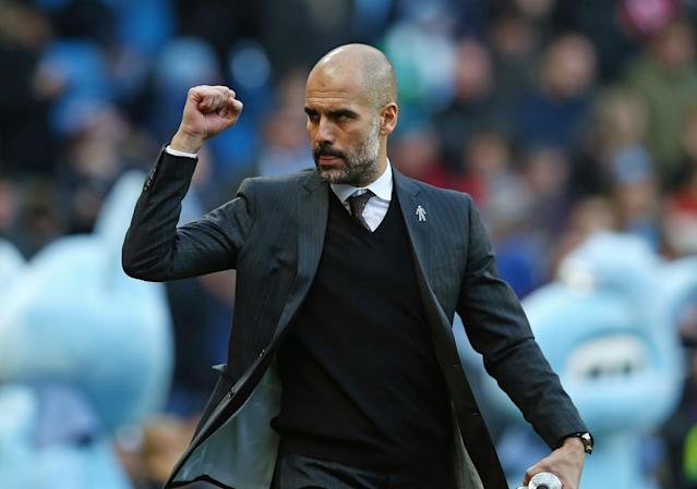 """Pep Guardiola and <a class=""""link rapid-noclick-resp"""" href=""""/soccer/teams/manchester-city/"""" data-ylk=""""slk:Manchester City"""">Manchester City</a> have shelled out incredible sums of money to buy young talents in an effort to not only win the Premier League this year, but also for years to come. (Getty)"""