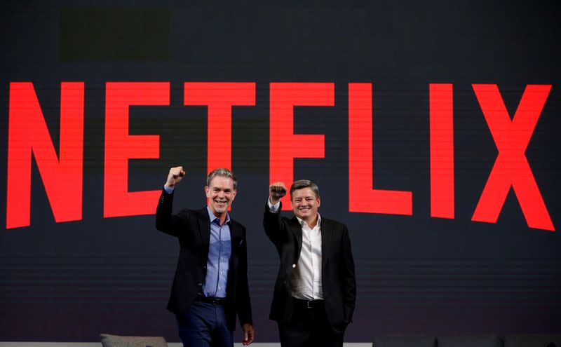Netflix names content chief Ted Sarandos co-CEO, forecasts weaker growth