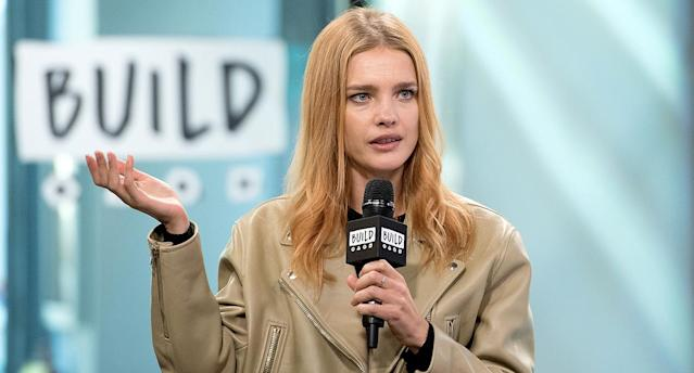 Natalia Vodianova visits Build Studio to discuss The Flo App at Build Studio in New York City. (Photo: Mike Pont/WireImage)