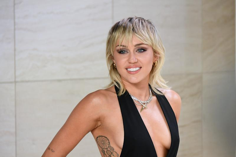 HOLLYWOOD, CALIFORNIA - FEBRUARY 07: Singer Miley Cyrus attends the Tom Ford AW20 Show at Milk Studios on February 07, 2020 in Hollywood, California. (Photo by Mike Coppola/FilmMagic)