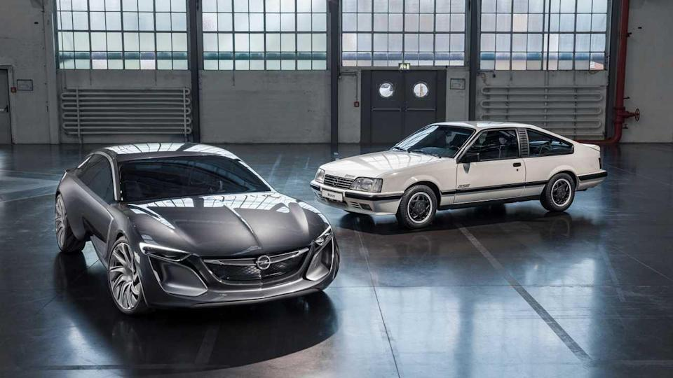 from left: Opel Monza concept (2013) and Opel Monza GSE
