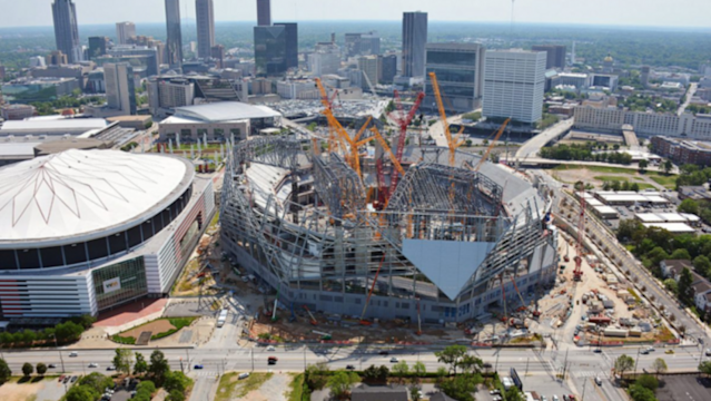 The Georgia Dome's replacement is rising. (Courtesy Mercedes Benz Stadium)