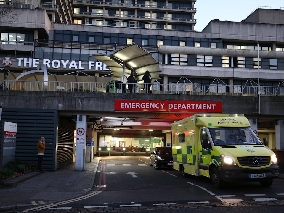 The Royal Free Hospital has been issued with a warning notice by the Care Quality Commission (PA)