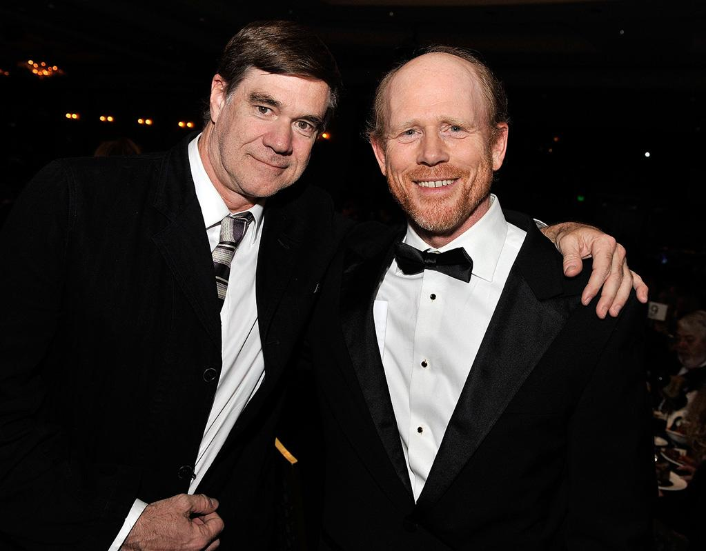 """<a href=""""http://movies.yahoo.com/movie/contributor/1800024107"""">Gus Van Sant</a> and <a href=""""http://movies.yahoo.com/movie/contributor/1800017103"""">Ron Howard</a> at the 61st Annual Directors Guild of America Awards in Los Angeles - 01/31/2009"""