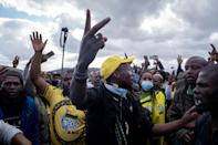 Hundreds of supporters gathered outside Zuma's home at the weekend, stoking fears of violence if police moved in to arrest him