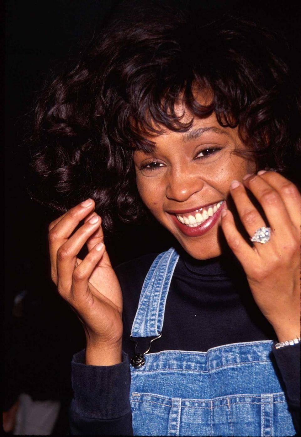 <p>Pure joy from one of the greatest talents Whitney Houston, seen in 1991. </p>