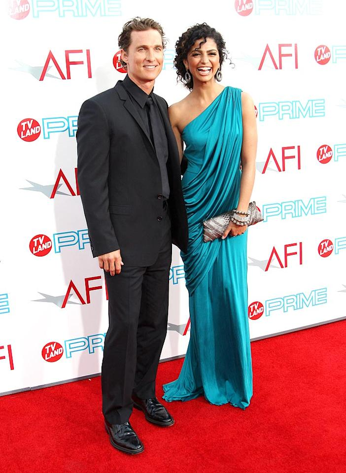 "<a href=""http://movies.yahoo.com/movie/contributor/1800018907"">Matthew McConaughey</a> and Camila Alves at the 37th Annual AFI Lifetime Achievement Awards - 6/11/2009"