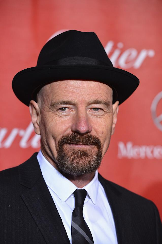 PALM SPRINGS, CA - JANUARY 05:  Actor Bryan Cranston arrives at The 24th Annual Palm Springs International Film Festival Awards Gala on January 5, 2013 in Palm Springs, California.  (Photo by Frazer Harrison/Getty Images)