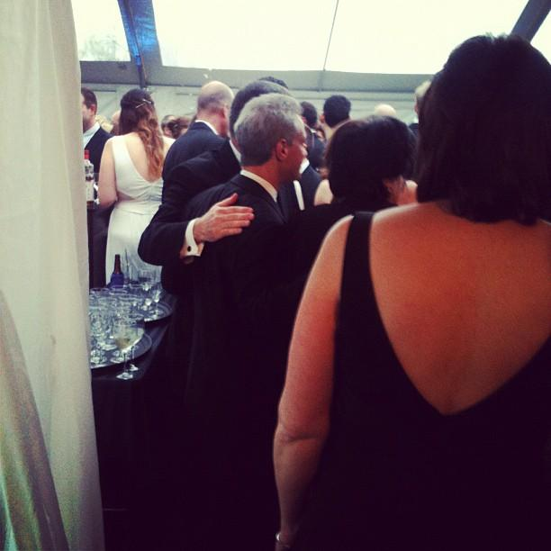 The back of Rahm Emanuel's head! #whcd
