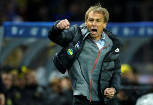 Jurgen Klinsmann was appointed Hertha Berlin coach on November 27