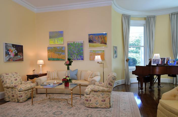 The living room in the vice presidential residence in 2016