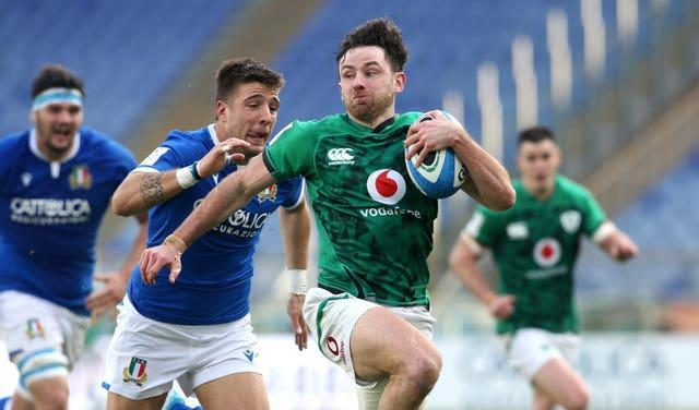Hugo Keenan is part of Ireland's 37-strong squad for the summer Tests against Japan and the United States (Marco Iacobucci/PA)
