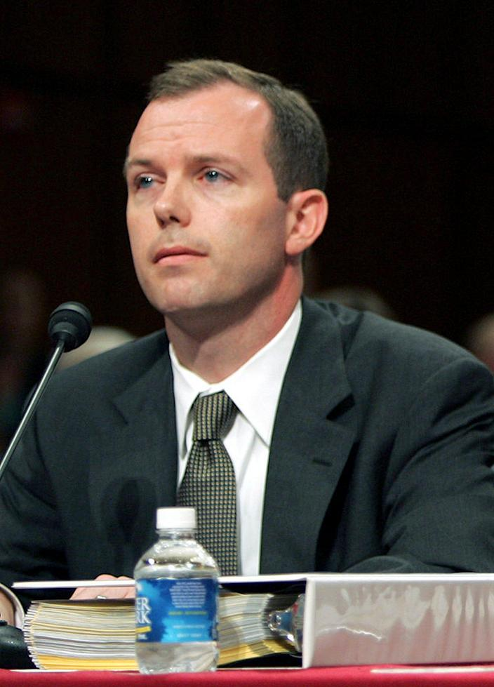 Kevin Ring testifies on Capitol Hill in Washington on June 22, 2005. After time in federal prison, Ring is now pushing to end mandatory minimum laws he once wrote.