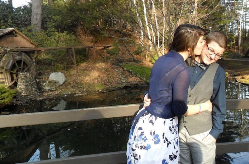 Getting married in Westfield, Massachusetts, after our final exams (2011). (Photo: Photo Courtesy of Baylea Jones)